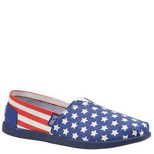 Skechers USA Women's Bobs World - Nation American Flag Slip-On