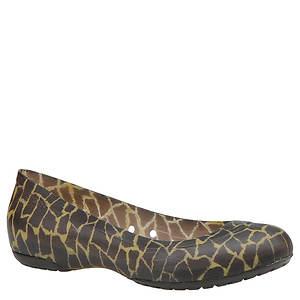 Crocs™ Women's Carlisa Giraffe Print Flat