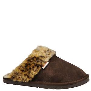 Slippers International Women's Leopard Fluff Slipper