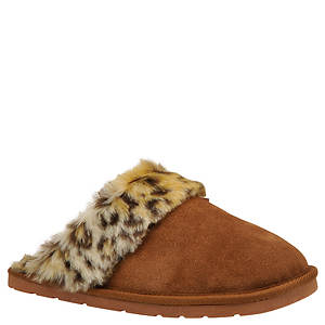 Slippers International Women's Leopard Fluff Slipper