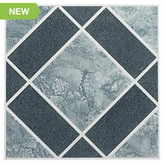 "12""x12"" Self-Adhesive Peel-and-Stick Vinyl Floor Tiles"