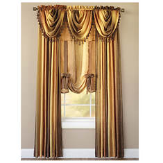 "Ombre Tasseled Waterfall Valance 46""x40"""
