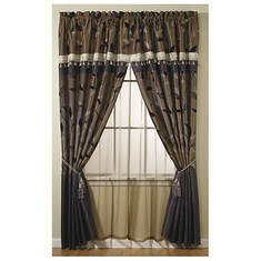 "Opulence Drapery Panels with 18"" Sewn-On Valance"