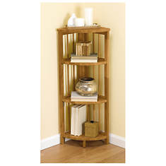 Folding Mission Style Corner Bookcase