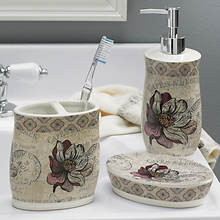3-Piece Ceramic Bath Accessory Set