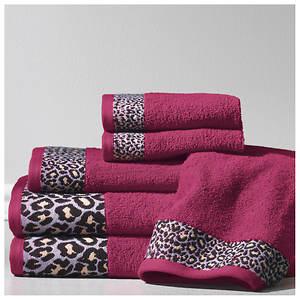 6-Piece Exotic Jacquard-Stripe Towel Set