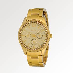 Relic Women's Startla Gold Tone Chrono W/Glitz Watch