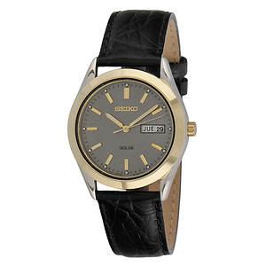 Seiko Men's Solar Watch With Grey Dial