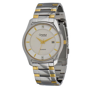 Caravelle By Bulova Men's Diamond Dial Dress Watch