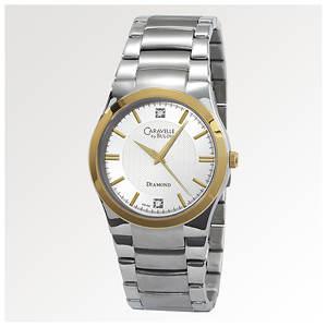 Caravelle by Bulova Men's Diamond Dial Watch