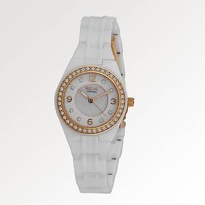 Relic Women's Ceramic White/Rose W/Glitz Watch