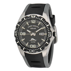 Tommy Bahama Relax Men's Beach Cruiser Watch With Black Dial