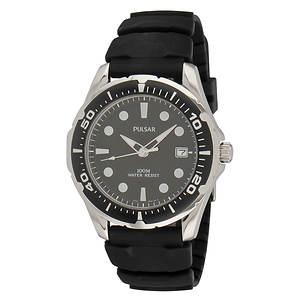 Pulsar Men's Black Quartz Watch