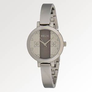 Relic Women's Relic Logo Dail MOP Bangle Watch