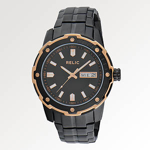 Relic Men's Diver Date Black/Rose Watch