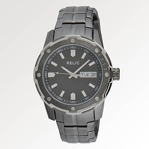 Relic Men's Diver Date Gunmetal Watch