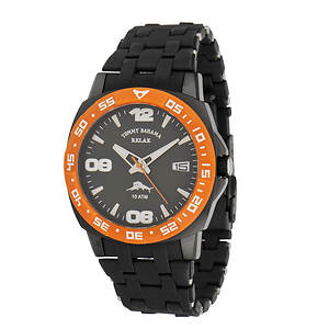 Tommy Bahama Relax Men's Reef Guard Watch With Orange Accents