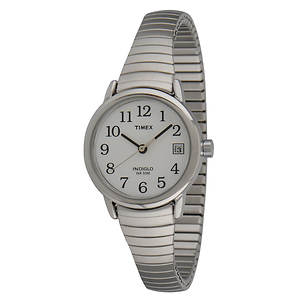 Timex Women's Silver Watch With White Dial