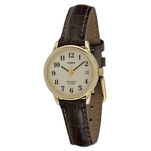 Timex Women's Brown Watch With White Dial