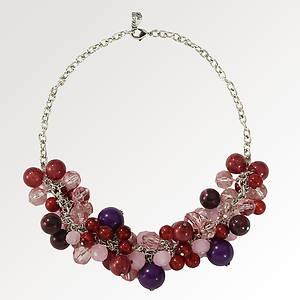 Cluster Beaded Necklace
