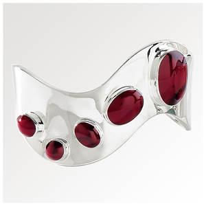 Silver Curved Cuff Bracelet