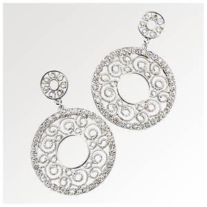 Array Crystal Spiral Earrings