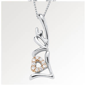 Diamond Love Charm Necklace
