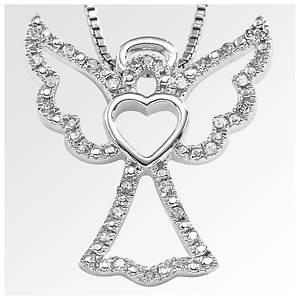 Diamond Angel Charm Necklace