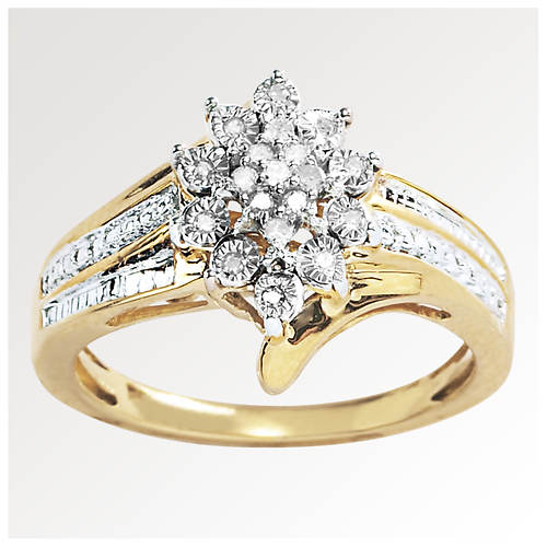 Women's Diamond Cluster Ring