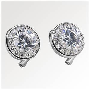 Halo CZ Earrings