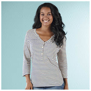 Striped Slub Knit Tunic