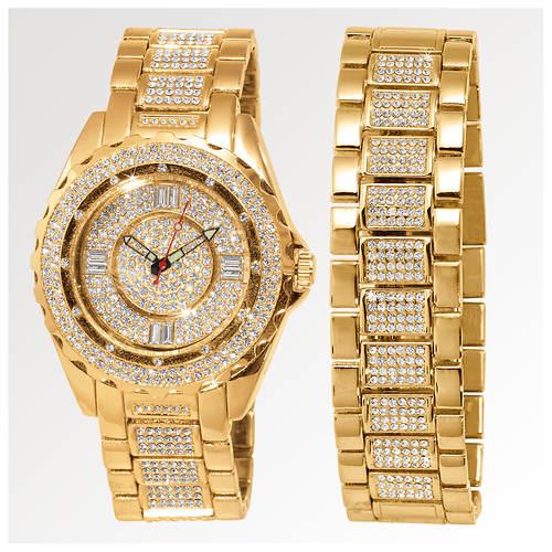 gold watch and bracelet set men s stoneberry gold watch and bracelet set men s