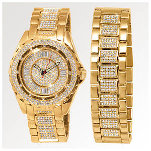Gold Watch and Bracelet Set (Men's)