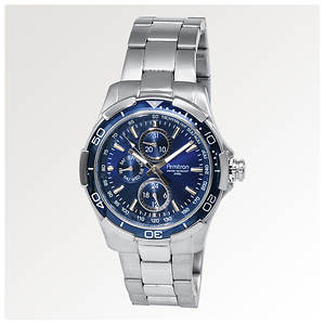 Armitron Stainless-Steel Multi-Function Blue Dial Sport Watch