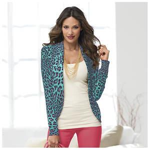 Leopard Peplum Sweater