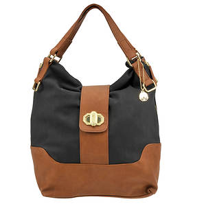 Big Buddha Cassia Color Block Hobo Bag