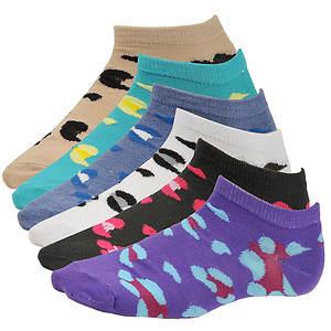 Steve Madden Women's SM26255 6-Pack Low Cut Socks