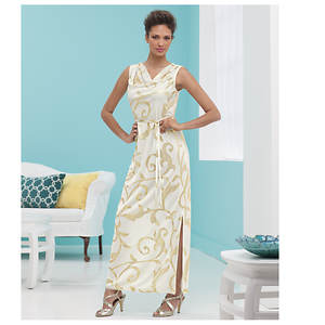 Touch of Gold Maxi Dress