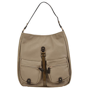SR Squared by Sondra Roberts Saffiano and Patent Hobo Bag