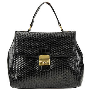 SR Squared by Sondra Roberts Classic Collection Croco Satchel