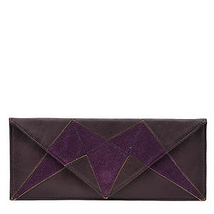 SR Squared by Sondra Roberts Faux Suede/Napa Clutch