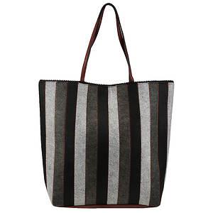 SR Squared by Sondra Roberts Striped Felt Tote Bag