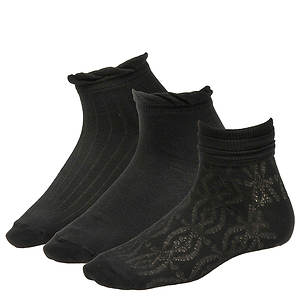 Chinese Laundry Women's 3480 3-Pack Anklet Socks