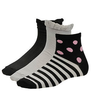 Chinese Laundry Women's 3486 3-Pack Anklet Socks