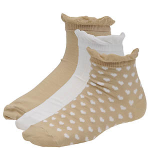 Chinese Laundry Women's 3496 3-Pack Anklet Socks
