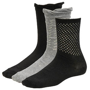 Chinese Laundry Women's 4286 3-Pack Crew Socks