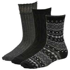 Chinese Laundry Women's 4431 3-Pack Crew Socks