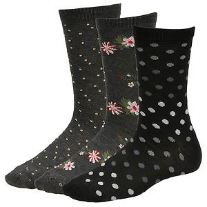 Chinese Laundry Women's 4435 3-Pack Crew Socks