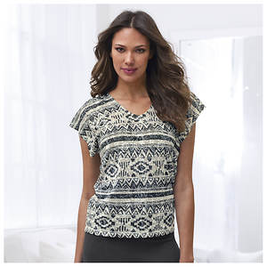 Aztec Burnout Tee
