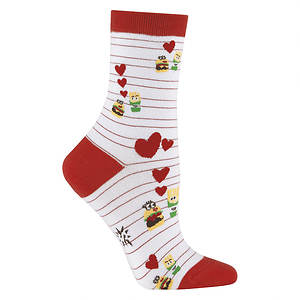 Sock It To Me Women's Burger Loves Fries Crew Socks
